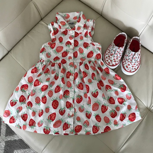 1696de94a Genuine Kids by Osh Kosh Other - 🍓Toddler Strawberry Dress & Matching  Sneakers🍓